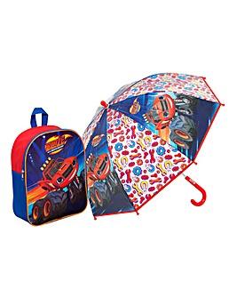 Blaze Junior Backpack & Bubble Umbrella