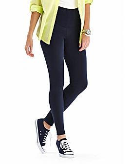High Waisted Plain Leggings Short