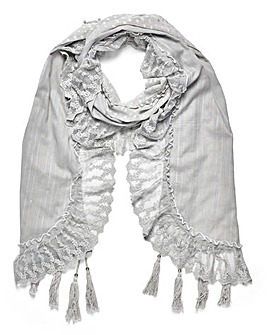 Together Lace Detail Scarf