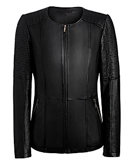 JOANNA HOPE Leather Biker Jacket