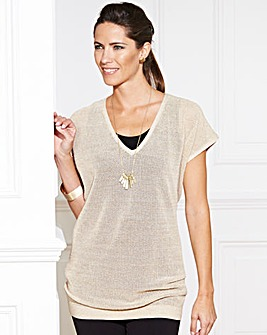 JOANNA HOPE Metallic Knitted Jumper