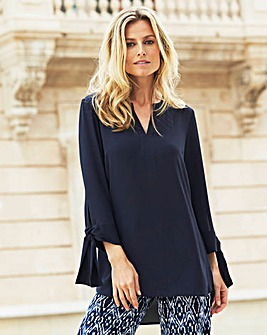 JOANNA HOPE Tie Sleeve Tunic