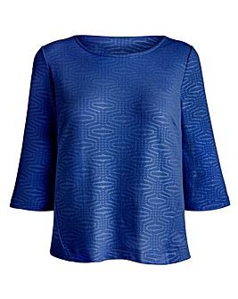JOANNA HOPE Textured Jersey Top