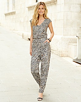 JOANNA HOPE Animal Print Jumpsuit