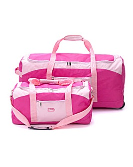 XL Wheel Holdall & Small Bag - Pink