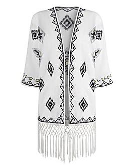 JOANNA HOPE Embroidered Kimono Jacket