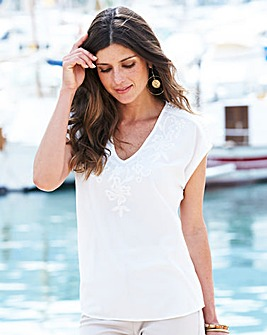 JOANNA HOPE Embroidered Top