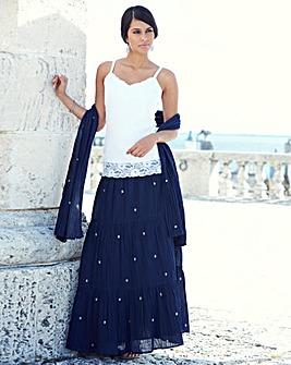 JOANNA HOPE Maxi Skirt and Scarf