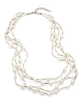 JOANNA HOPE Multi Strand Pearl Necklace