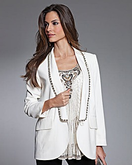 Together Bead Trim Tailored Jacket