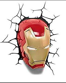 Marvel Avengers Iron Man Mask Wall Light