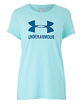 UNDER ARMOUR SPORTSTYLE CREW NECK TEE