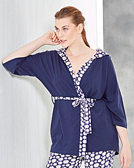 Pretty Secrets Daisy Print Hooded Gown