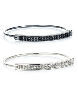 Mood Pave crystal bangle set