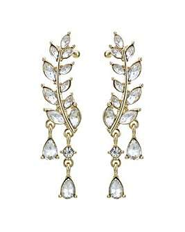 Mood Gold leaf ear crawler earring