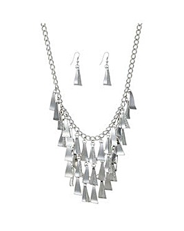 Mood Silver pave shower jewellery set