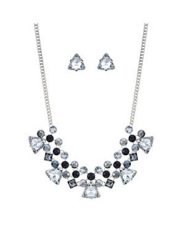 Mood Metallic crystal jewellery set