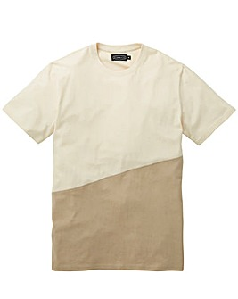 Label J Asymmetric Panel Tee Long