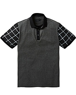 Label J Print Sleeve Polo Long