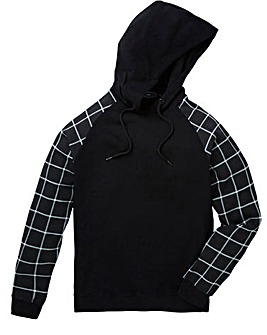 Label J Print Sleeve Hood Sweat