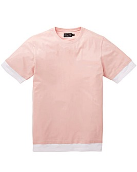 Label J Longline Step Hem Layer Tee