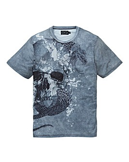 Label J Texture Skull Tee Long