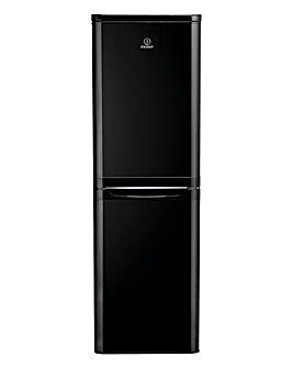 Indesit Combi Fridge Freezer Black