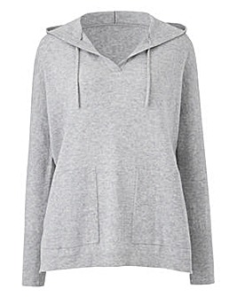Wool Mix Knitted Hoody