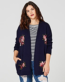 Rose Jacquard Cardigan