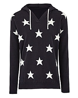 Knitted Star Hoody