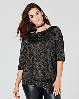 Metallic Tie Side Jumper