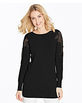 Lace Shoulder Tunic