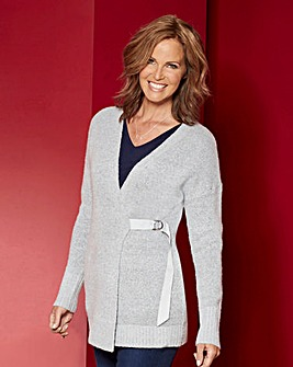 Tie Side Boucle Cardigan
