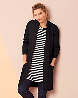 Hooded Edge to Edge Cardigan