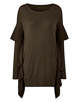 RUFFLE SIDE TUNIC