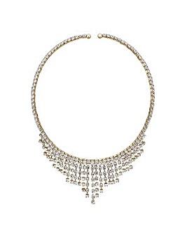 Mood Gold diamante choker necklace