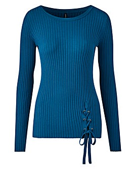 Lace Up Rib Jumper