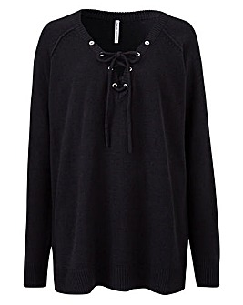 Lace Up Front Jumper