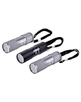 Rolson 3pc 9 LED Aluminium Torch Set