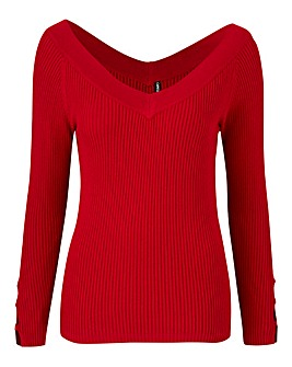 Knitted Bardot Jumper