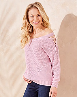 Lace Up Sleeve Jumper