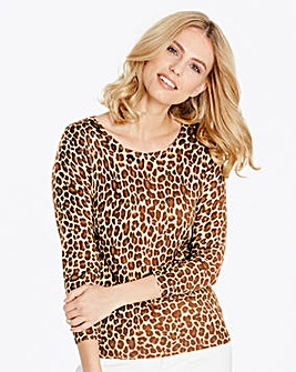 Animal Print Crew Neck Jumper