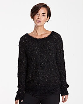 Fluffy Bow Back Jumper