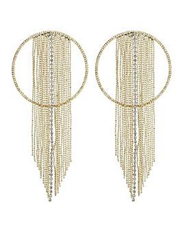 Mood Gold ring diamante shower earring