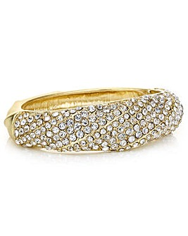 Mood Gold pave crystal bangle