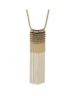 Mood Beaded chain statement necklace