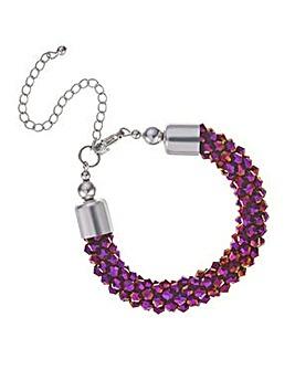 Mood Metallic purple bead bracelet