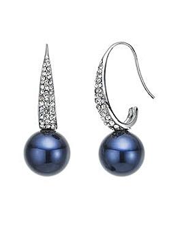 Mood blue pearl drop earring