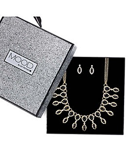 Mood fan necklace and earring set