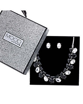 Mood multishape necklace and earring set